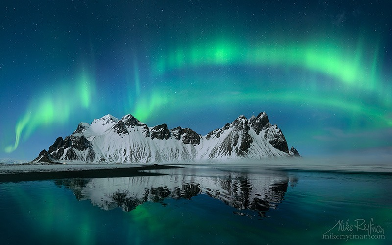 Polar lights in Iceland