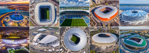 2018 FIFA World Cup Stadiums • AirPano.com • 360° Aerial Panoramas • 360° Virtual Tours Around the World