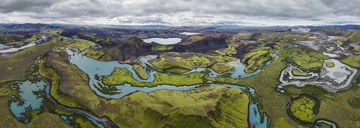 Highlands of Iceland, Langisjor and Veidivotn • AirPano.com • 360 Degree Aerial Panorama • 3D Virtual Tours Around the World
