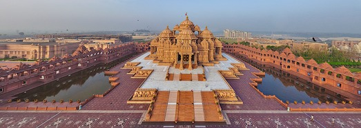 Swaminarayan Akshardham, Delhi, India • AirPano.com • 360 Degree Aerial Panorama • 3D Virtual Tours Around the World