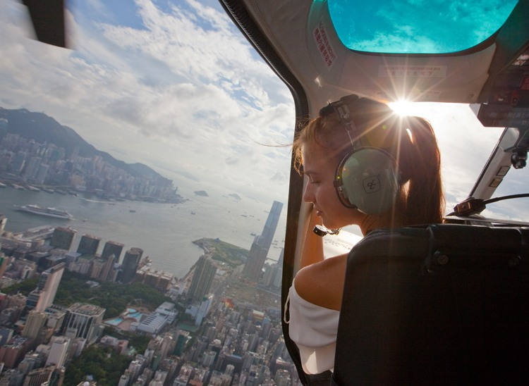 over Hong Kong