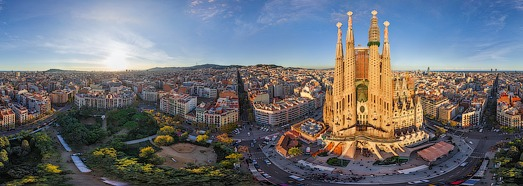 Barcelona, Spain • AirPano.com • 360 Degree Aerial Panorama • 3D Virtual Tours Around the World