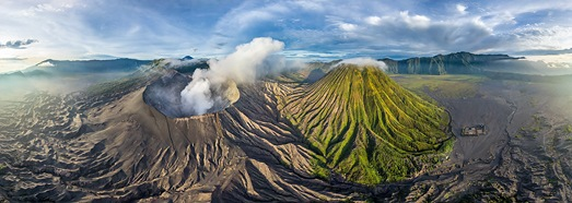 Bromo volcano, Java, Indonesia • AirPano.com • 360� Aerial Panorama • 3D Virtual Tours Around the World