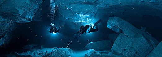 Underwater Orda Cave - AirPano.com • 360 Degree Aerial Panorama • 3D Virtual Tours Around the World