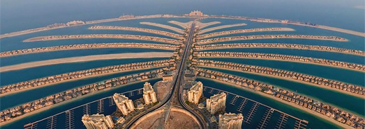 Virtual Tour over Artificial Islands in Dubai, UAE - AirPano.com • 360 Degree Aerial Panorama • 3D Virtual Tours Around the World
