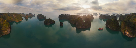 Halong Bay, Vietnam - AirPano.com • 360 Degree Aerial Panorama • 3D Virtual Tours Around the World
