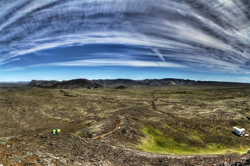 Photo from the top of the volcano