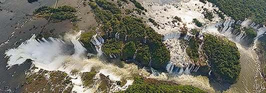 The Iguassu Falls, Argentina-Brazil - AirPano.com • 360 Degree Aerial Panorama • 3D Virtual Tours Around the World