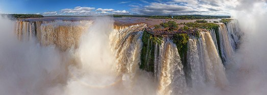 Iguasu Falls, Argentina-Brazil. Grand tour • AirPano.com • 360 Degree Aerial Panorama • 3D Virtual Tours Around the World