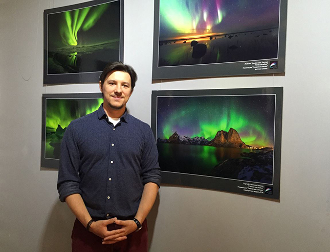 Sergey Semenov at the Global Arctic Awards exhibition