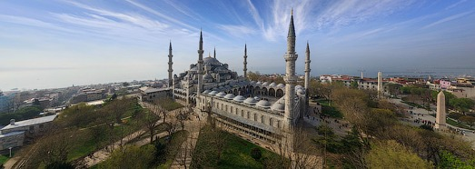 Most Famous Mosques in Istanbul, Turkey - AirPano.com • 360 Degree Aerial Panorama • 3D Virtual Tours Around the World