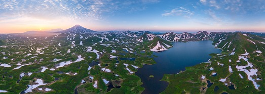 Kambalnoe Lake, Kamchatka, Russia • AirPano.com • 360° Aerial Panoramas • 360° Virtual Tours Around the World