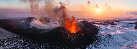 Volcano Plosky Tolbachik, Kamchatka, Russia, 2012 - AirPano.com • 360 Degree Aerial Panorama • 3D Virtual Tours Around the World