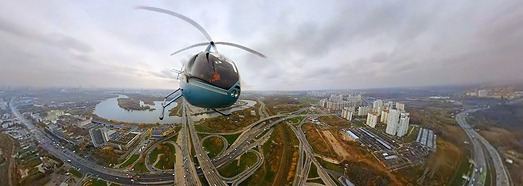Moscow, Aerial test shooting • AirPano.com • 360° Aerial Panoramas • 360° Virtual Tours Around the World
