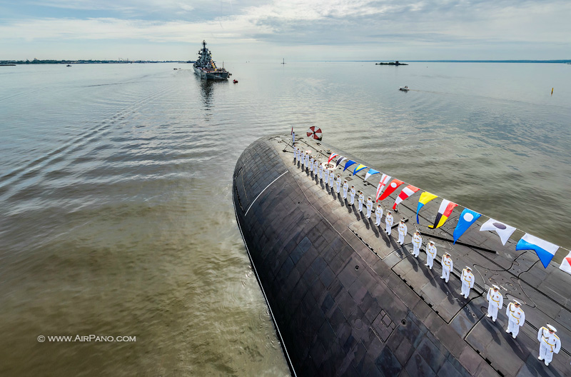 Rehearsal of the Russian Navy parade 2017