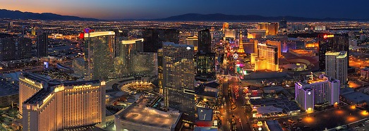 Las Vegas at Dusk and Night  - AirPano.com • 360 Degree Aerial Panorama • 3D Virtual Tours Around the World