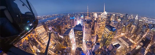 Manhattan at Night, New York, USA • AirPano.com • 360° Aerial Panoramas • 360° Virtual Tours Around the World