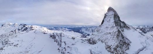 Matterhorn-Cervino, Monte Rosa, Zermatt - AirPano.com • 360 Degree Aerial Panorama • 3D Virtual Tours Around the World
