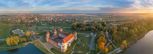 Mir Castle, Belarus • AirPano.com • 360° Aerial Panoramas • 360° Virtual Tours Around the World
