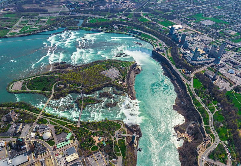 Niagara from the altitude of 500 meters