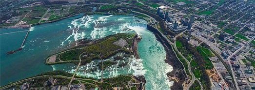 Niagara Falls, USA-Canada • AirPano.com • 360 Degree Aerial Panorama • 3D Virtual Tours Around the World