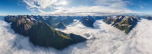 Norwegian Fjords • AirPano.com • 360 Degree Aerial Panorama • 3D Virtual Tours Around the World