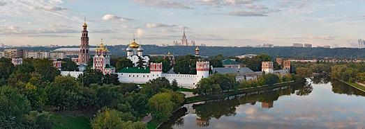 Novodevichy Convent, Moscow • AirPano.com • 360 Degree Aerial Panorama • 3D Virtual Tours Around the World