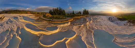 Pamukkale, Turkey • AirPano.com • 360° Aerial Panoramas • 3D Virtual Tours Around the World