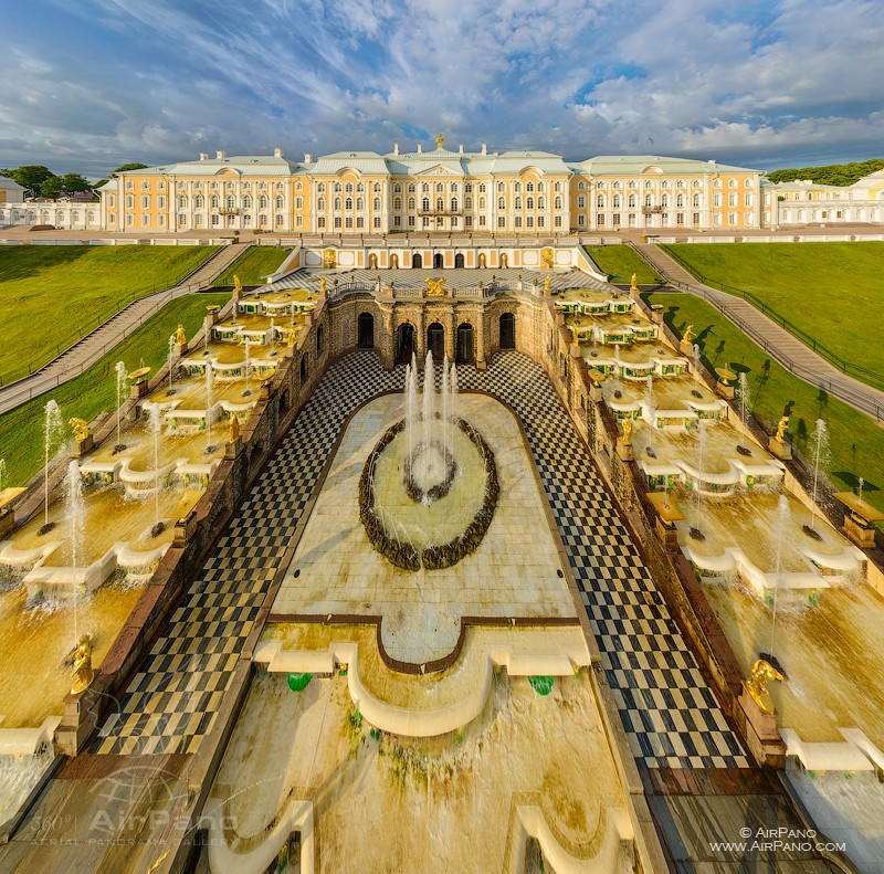 The Grand Peterhof Palace and the Grand Cascade