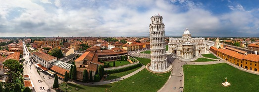 Leaning Tower of Pisa, Tuscany, Central Italy • AirPano.com • 360 Degree Aerial Panorama • 3D Virtual Tours Around the World