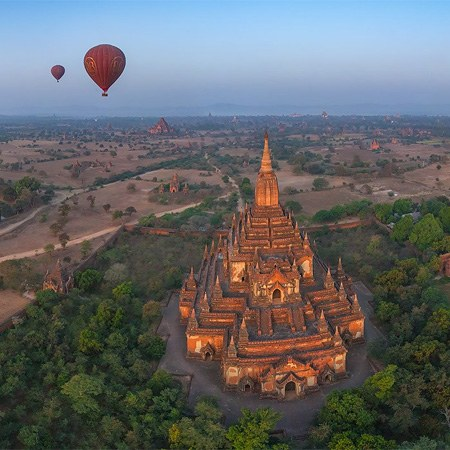 Balloon flight in Bagan, Myanmar