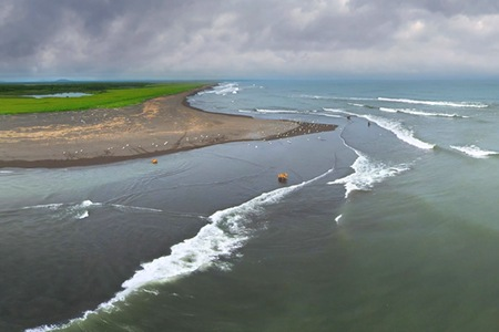 Kamchatka Peninsula, Eastern coast, Bering sea, Russia