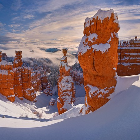 Bryce Canyon in Winter, Utah, USA