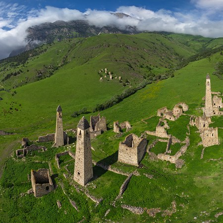 Old Watch Towers, Ingushetia, Russia