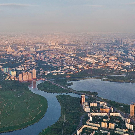 Moscow from an altitude of 1000 meters