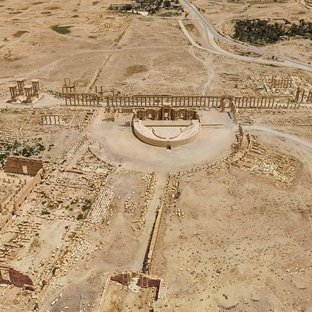 The past appearance of the Syrian Palmyra