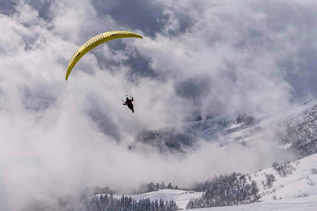 Paragliding. Rosa Khutor, Russia