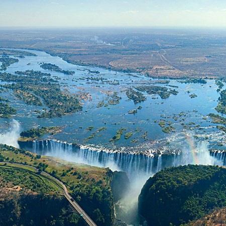Victoria Falls, Zambia and Zimbabwe border