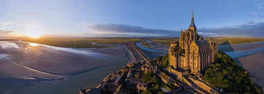 Abbey Mont Saint-Michel, France - AirPano.com • 360 Degree Aerial Panorama • 3D Virtual Tours Around the World