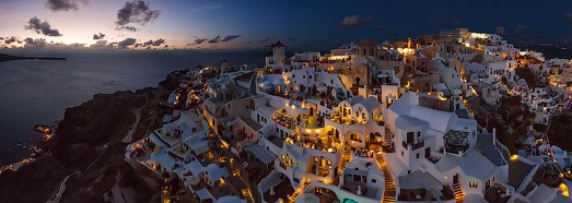 Santorini (Thira), Oia, Greece - AirPano.com • 360 Degree Aerial Panorama • 3D Virtual Tours Around the World
