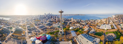 Seattle, USA • AirPano.com • 360� Aerial Panorama • 3D Virtual Tours Around the World