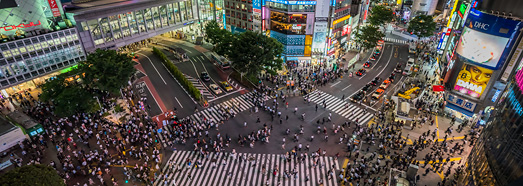 Shibuya Crossing. Tokyo, Japan • AirPano.com • 360° Aerial Panoramas • 360° Virtual Tours Around the World
