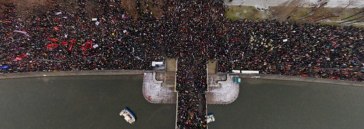 Moscow, protest rally on Bolotnaya Square • AirPano.com • 360 Degree Aerial Panorama • 3D Virtual Tours Around the World