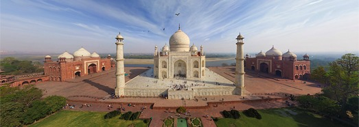 Taj Mahal, India • AirPano.com • 360 Degree Aerial Panorama • 3D Virtual Tours Around the World