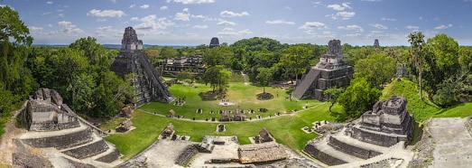 Maya Pyramids, Tikal, Guatemala - AirPano.com • 360 Degree Aerial Panorama • 3D Virtual Tours Around the World