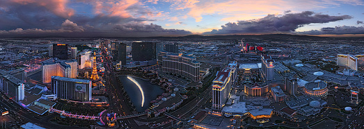 Luminous Las Vegas at Dusk and Night  • AirPano.com • 360 Degree Aerial Panorama • 3D Virtual Tours Around the World