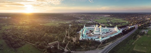 New Jerusalem Monastery, Russia • AirPano.com • 360° Aerial Panoramas • 360° Virtual Tours Around the World