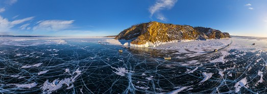 Lake Baikal, Magical Ice • AirPano.com • 360° Aerial Panoramas • 360° Virtual Tours Around the World