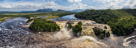 Canaima Lagoon, Venezuela. Part I. Ucaima Waterfall • AirPano.com • 360° Aerial Panoramas • 360° Virtual Tours Around the World