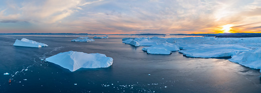Icebergs of Greenland. Part IV • AirPano.com • 360° Aerial Panoramas • 360° Virtual Tours Around the World